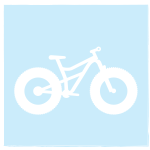 icon of fat tire bike