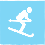 icon of downhill skier