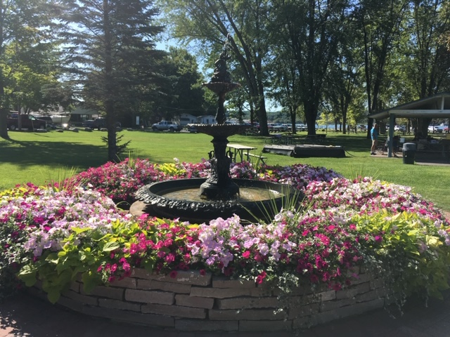 Manistee County Courthouse Fountain