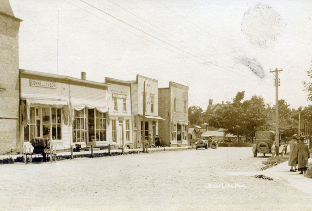 Bear Lake Main Street Circa 1920 Manistee County Tourism Manistee Michigan
