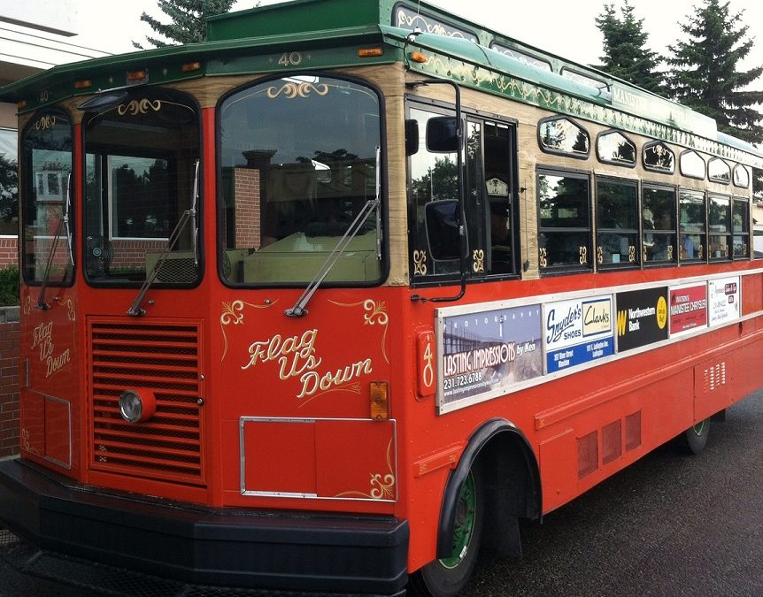 Trolley tour is a visit to the past