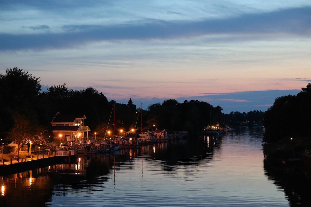 Manistee Riverwalk at Twilight - photo credit Daryl Pieczynski