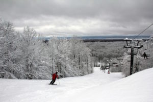 photo of downhill skier on crystal mountain