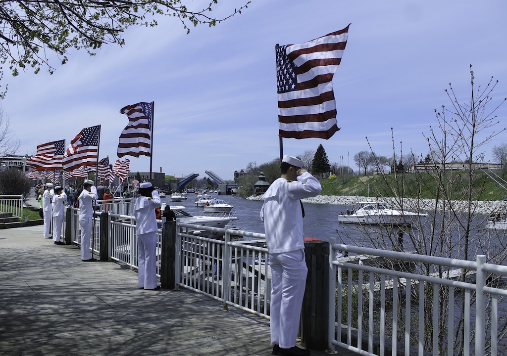 Manistee Riverwalk during Tight Lines for Troops - photo credit Carol Locey
