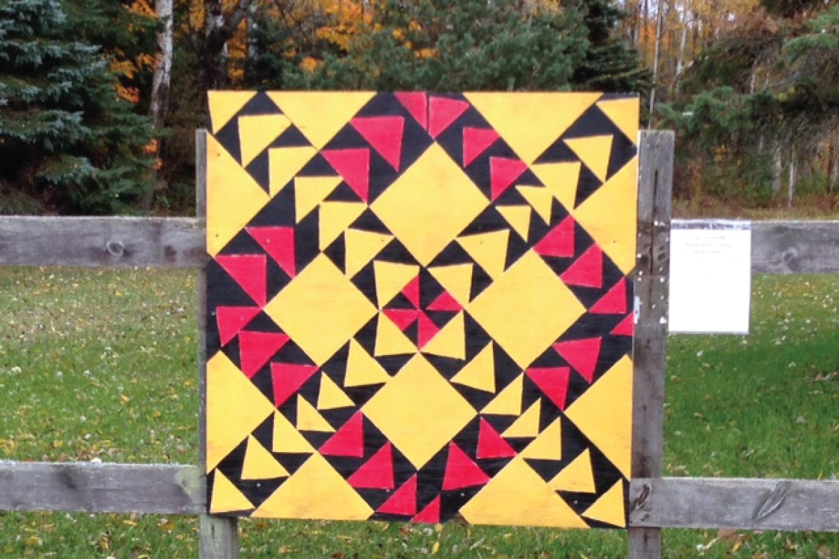 Norwalk Railroad Crossing Quilt Square