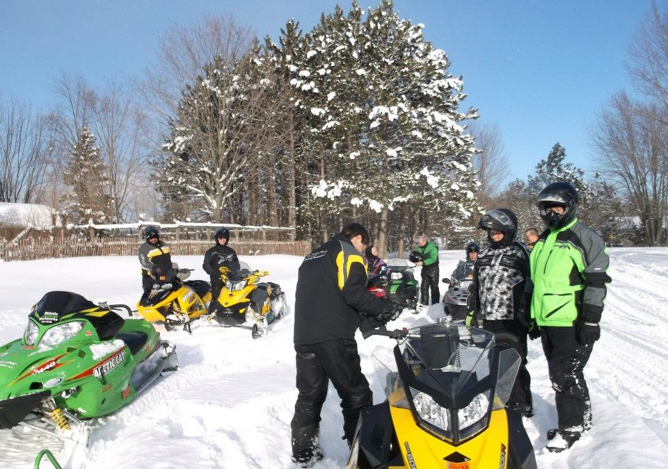 A weekend snowmobiling trip…