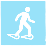 icon of snowshoer